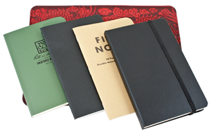 Various Notebooks that fit our Leather Notebook Cover