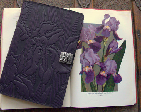 Old Purple Leather e-Reader Cover