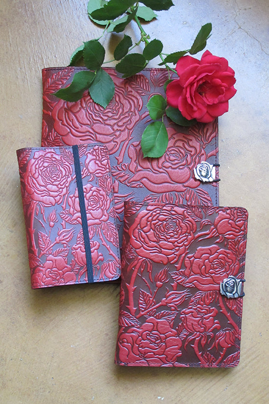 Red Rose Leather Covers