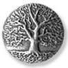 Tree of Life Britannia Metal Button
