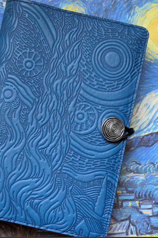 Van Gogh Sky Leather Journal Cover