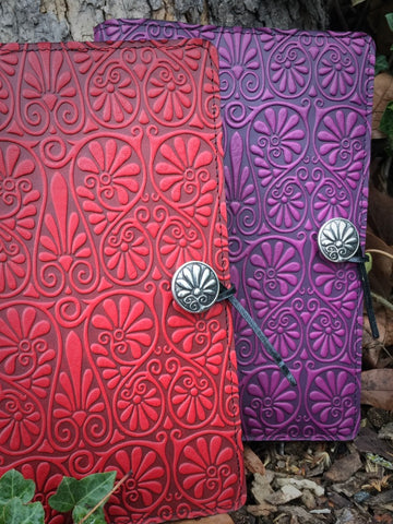 Fanflower design leather covers