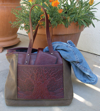 Waxed Canvas & Leather Everyday Tote