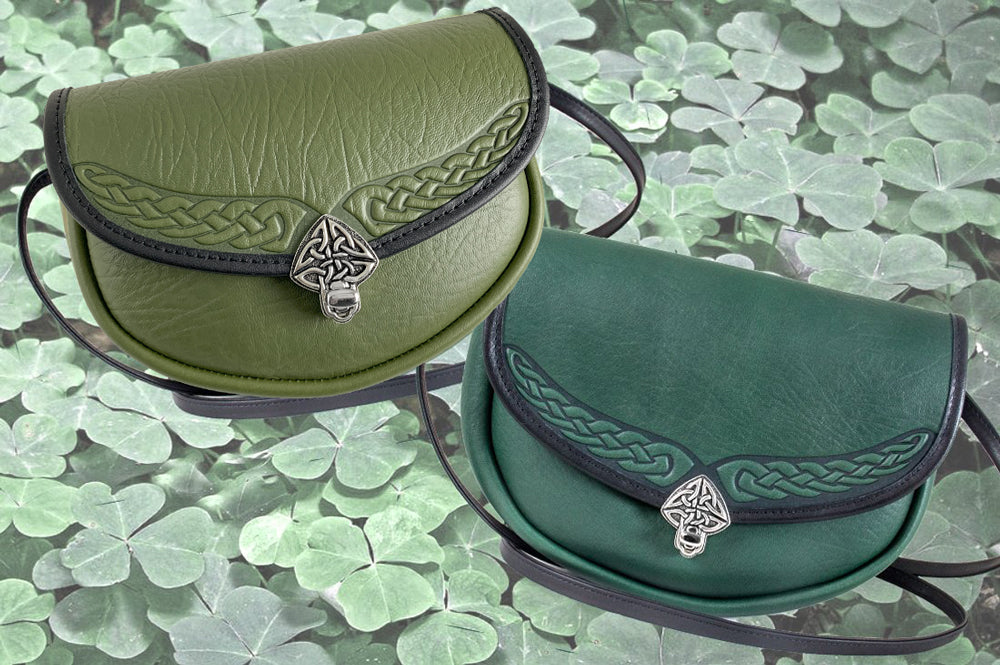 Limited  Edition Leather Handbags Lilah in Fern & Green