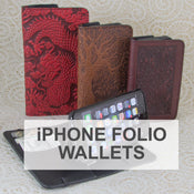 Oberon Design iPhone Wallet Folio Cases