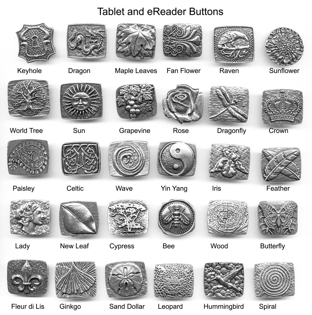 Britannia Metal Buttons for Tablets and eReaders
