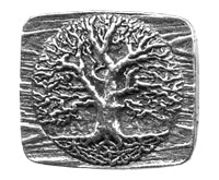 World Tree Britannia Metal Tablet Button