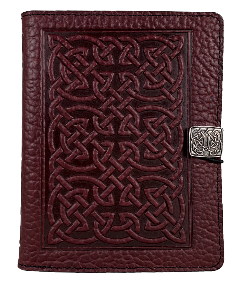 SPECIAL RETRO | Kindle Paperwhite or Voyage Cover | Bold Celtic in Wine Pebbled Leather