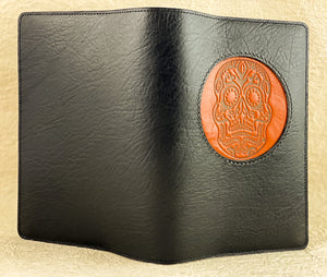 HAPPY EXTRA, Refillable Leather Icon Journal, Sugar Skull in Ginger