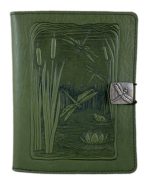 SPECIAL RETRO | Kindle Paperwhite or Voyage Cover | Dragonfly Pond in Fern | Old Single Panel