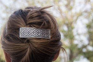 Hair Clip |  Barrette | Hair Accessory |  Large Celtic 80mm