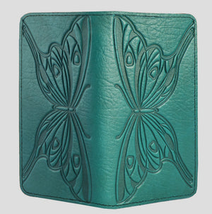Leather Checkbook Cover, Butterfly, 2 Colors