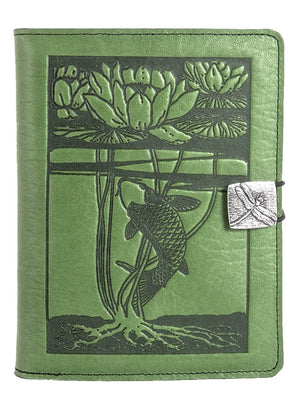 Leather Cover for Kindle e-Readers, Water Lily Koi, 3 Colors