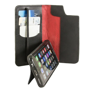Leather Wallet Case for iPhone | Folio Style | Kickstand Feature