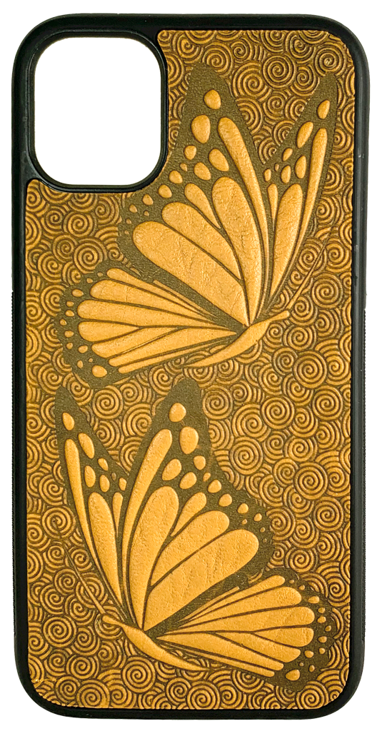 Leather iPhone Case, Butterflies, 2 Colors