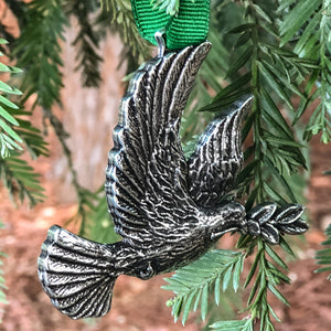 ecolemamie Peace Dove Metal Collectable Christmas Tree Ornament - Hand Made in The USA …