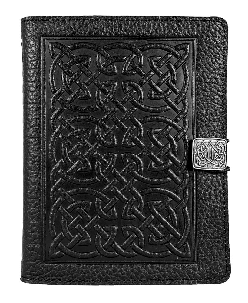 SPECIAL RETRO | Kindle Paperwhite or Voyage Cover | Bold Celtic in Black Pebbled Leather