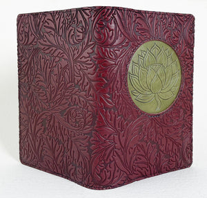 SECOND, Refillable Leather Icon Luxe Journal, Floating Lotus