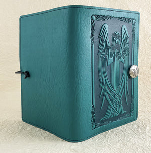SECOND | Large Notebook Cover | Beardsley Angel in Teal