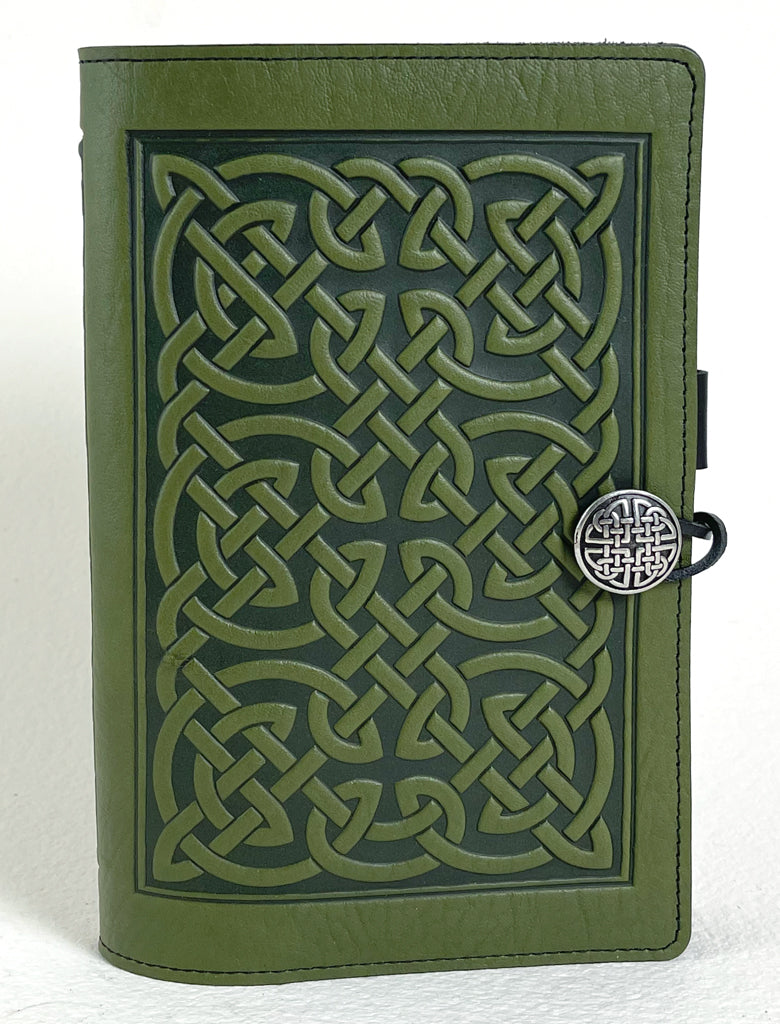 SECOND, Large Notebook Cover, Bold Celtic in Fern