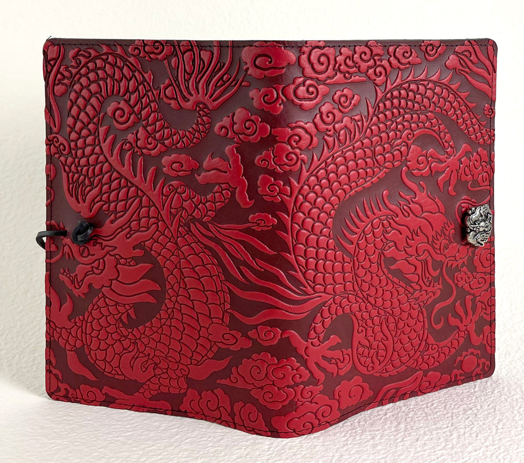 SECOND, Large Notebook Cover, Cloud Dragon in Red