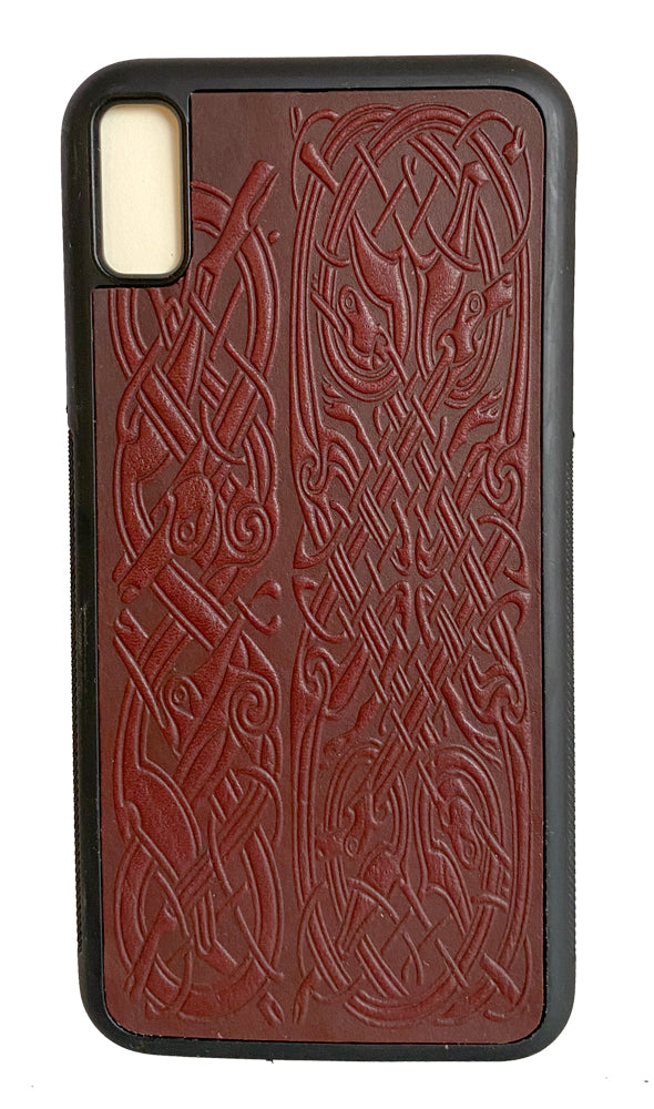 SECOND | iPhone XS MAX Case | Celtic Hounds in Wine