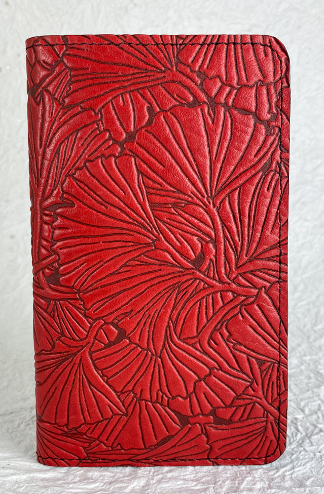 SECOND | Leather Wallet Folio Case for iPhone 7 Plus or 8 Plus | Ginkgo in Red