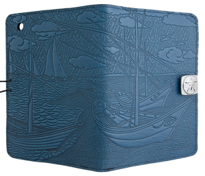 Leather iPad Mini Cover Case | Van Gogh Boats in Sky Blue