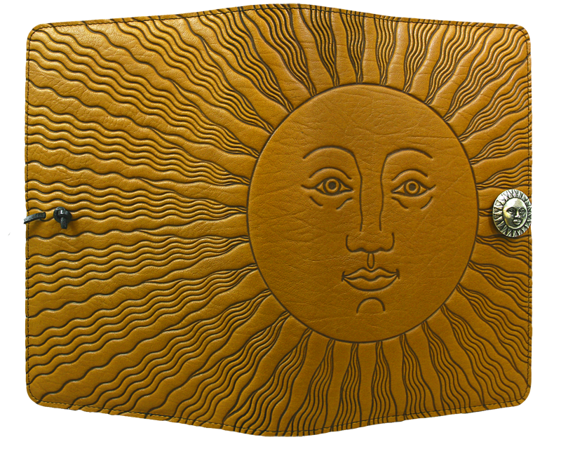 Leather Journal Cover | Diary | Sun in Marigold