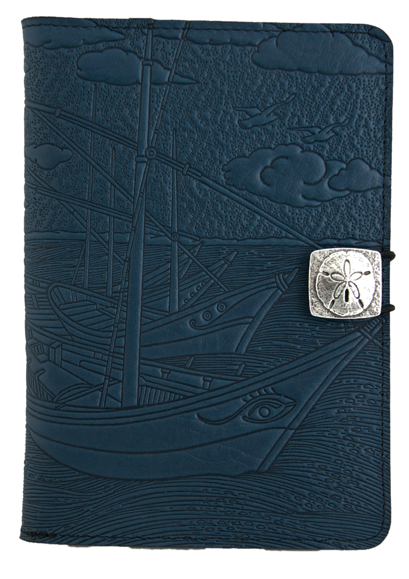 Leather iPad Mini Cover Case | Van Gogh Boats in Navy