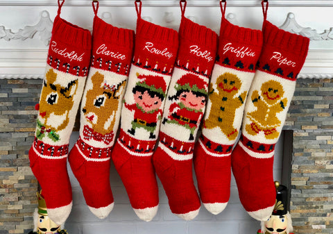 Personalized Christmas stockings for couples