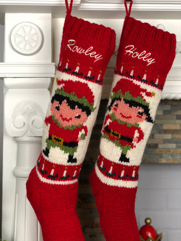 Personalized his her Christmas stockings