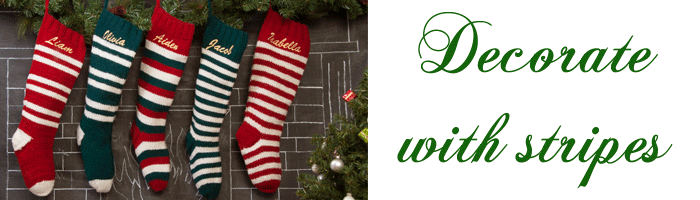 Striped Knit Christmas Stockings