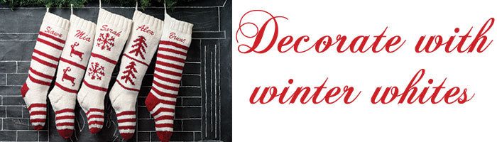 Winter White Christmas Stocking Collection