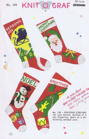 Knit-o-Graf Christmas Stocking Pattern