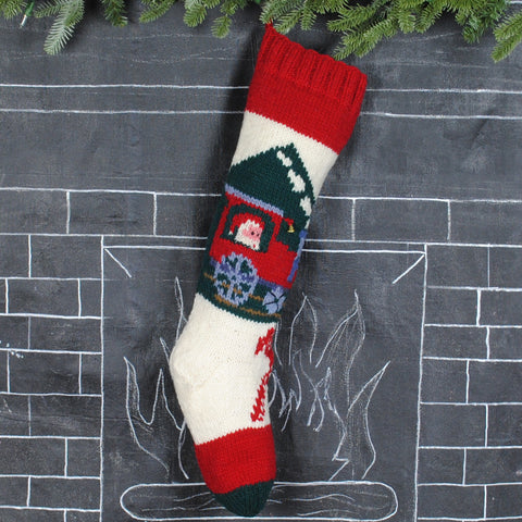 Bernat Train Christmas Stocking