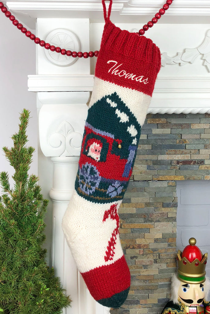 Train personalized Christmas stocking