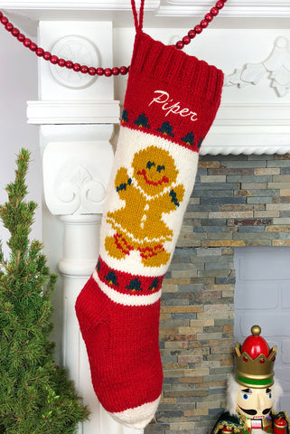 Gingerbread Girl  Christmas Stocking