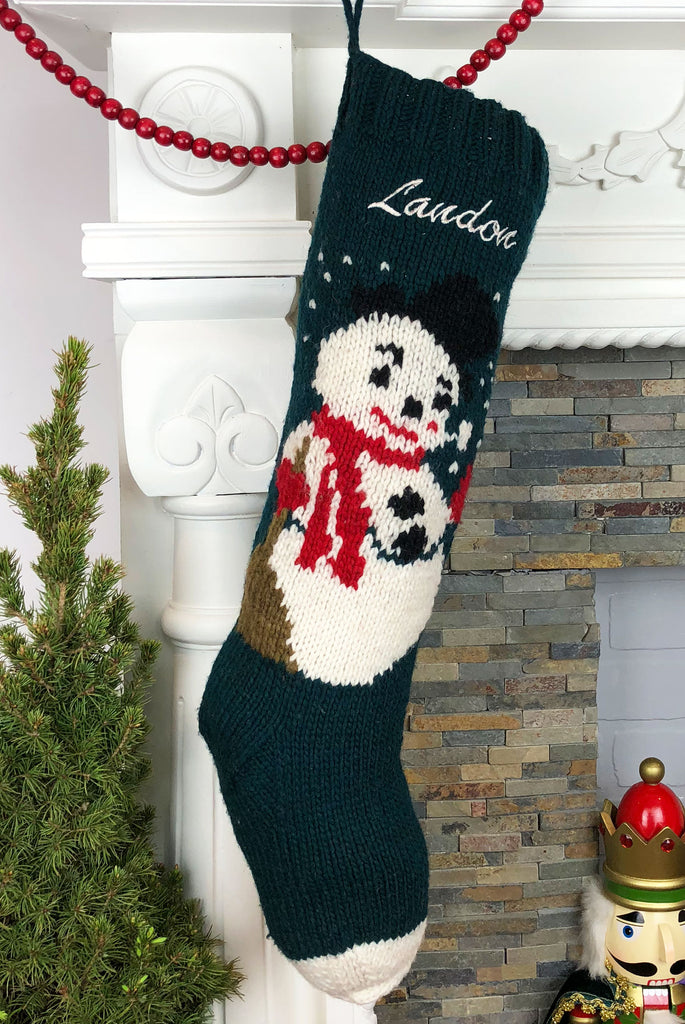 Green Frosty Personalized Christmas Stocking