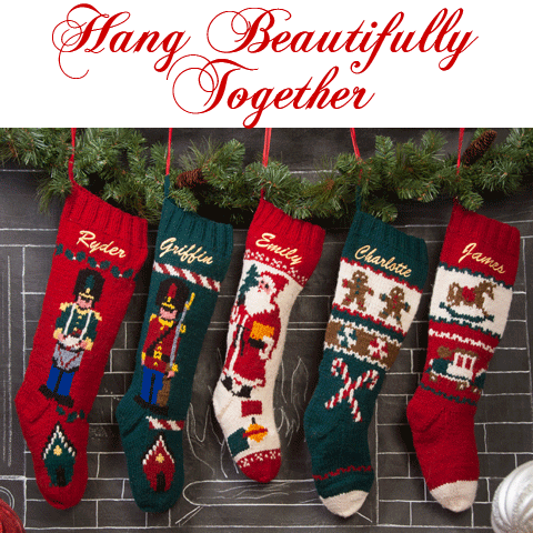 gingerbread knit wool christmas stocking - Knitted Christmas Stockings