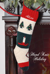 Candle Tree Christmas Stocking