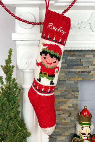 Jolly Rowley Boys Elf Christmas Stocking