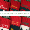 Angel Hand Knit Personalized Christmas Stocking