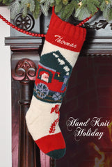 Personalized Train Christmas Stocking