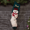 Knit wool Christmas stocking