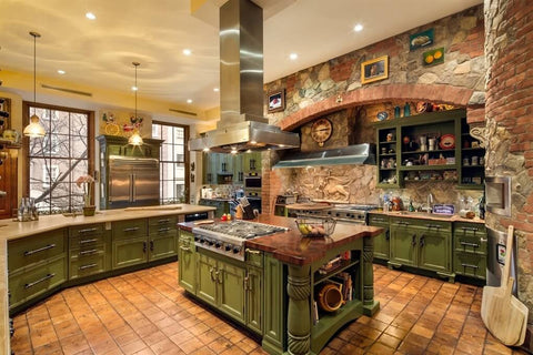 country-kitchen- green