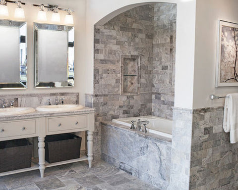 traditional-travertine-bathroom