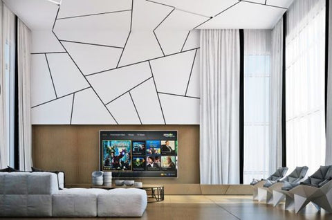 10 clever ideas for accent walls for Geometric accent wall