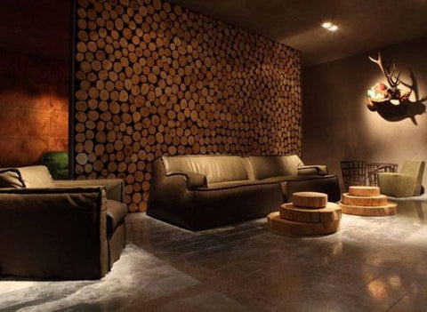wooden-logs-accent-wall