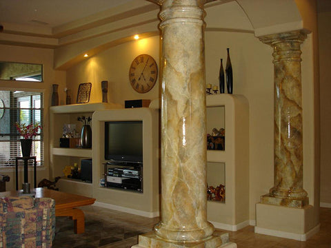 column-marble-living room